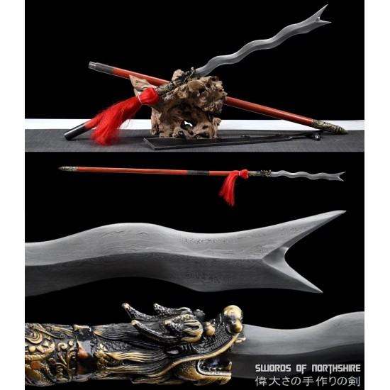 Zhang Fei Viper Blade Dynasty Warriors Serpent Spear Snake Blade Battle Ready Chinese Three Kingdoms Replica