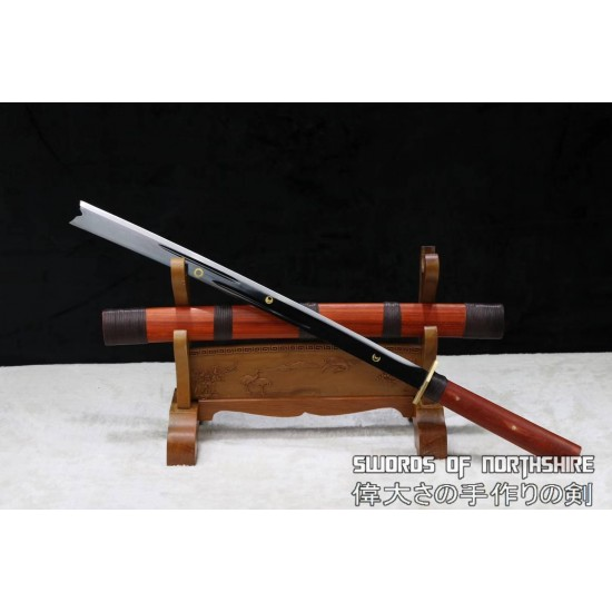 Husa Knife Achang Battle Ready Hand Forged 1095 Carbon Steel Chinese Machete Dao Sword