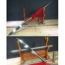 Chinese Qiang Spear Martial Arts Hand Forged Folded Damascus Steel Elite Military Weapon