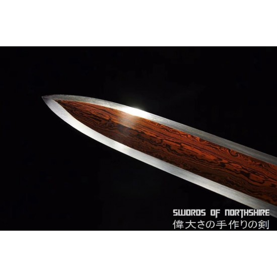 Chinese Han Dynasty Jian Hand Forged Folded Steel Blade Battle Ready Martial Arts Sword