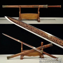 Chinese Dragon Han Jian Hand Forged Folded Steel Blade Battle Ready Martial Arts Sword