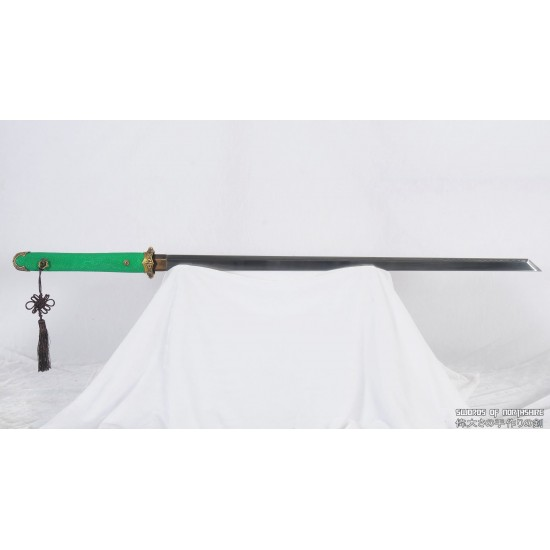 Clay Tempered 1095 High Carbon Steel Blade Tang Dao Chinese Martial Arts Tai Chi Sword