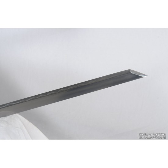 Clay Tempered 1095 High Carbon Steel Blade Silver Plated Fittings Tang Dao Sword