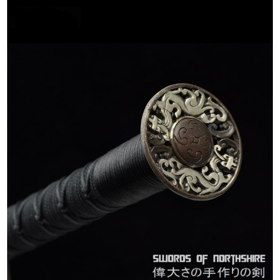 Han Dynasty Eight-Sided Jian Hand Forged Folded Steel Chinese Martial Arts Tai Chi Sword