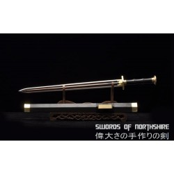Classic Han Dynasty Jian Hand Forged Red Folded Steel Blade Chinese Martial Arts Tai Chi Sword