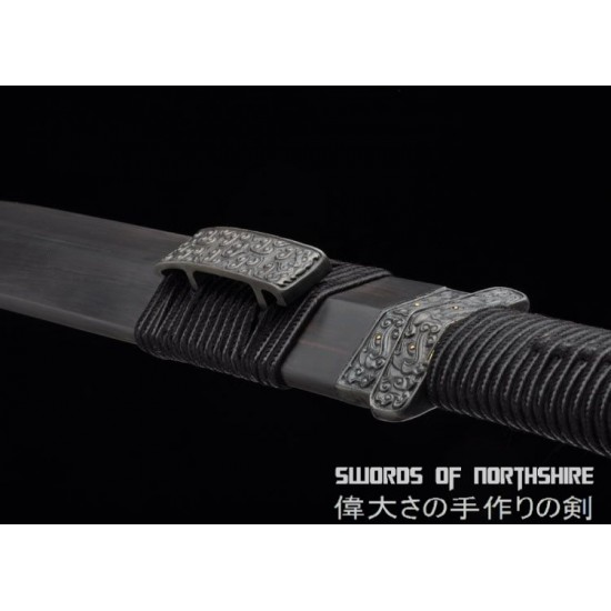 Purity Short Sword Eight-Sided Knife Hand Forged Folded Steel Blade Dagger Chinese Jian