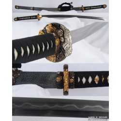 Clay Tempered & Folded 1095 High Carbon Steel High Quality Japanese Samurai Tachi Sword
