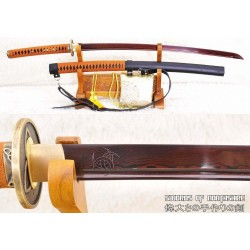 The Walking Dead Hand Forged Red Folded Steel Fully Functional Michonne Katana