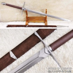 Braveheart Hand Forged Folded Steel Fully Functional William Wallace European Broadsword