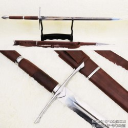 Braveheart Hand Forged 1095 Steel Functional William Wallace European Straight Broadsword
