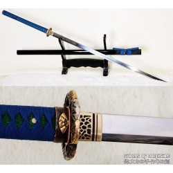 Hand Forged Nodachi Clay Tempered 1095 High Carbon Steel Odachi Tang Dao Ninja Sword