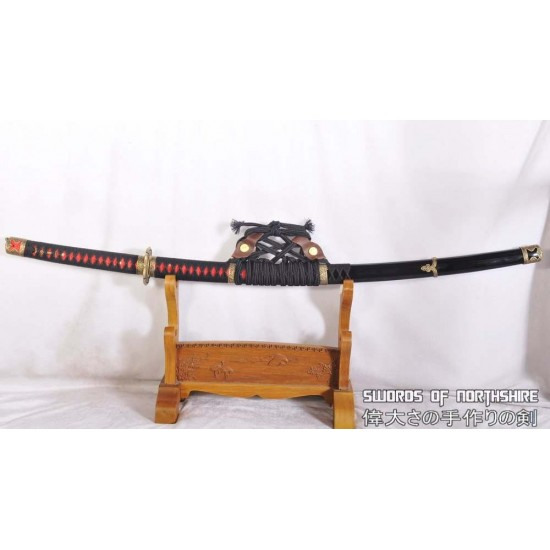 Hand Forged Clay Tempered 1095 High Carbon Steel Japanese Samurai Tachi Sword