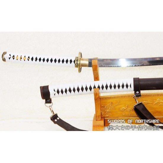 The Walking Dead Hand Forged 1095 High Carbon Steel Clay Tempered Michonne Katana