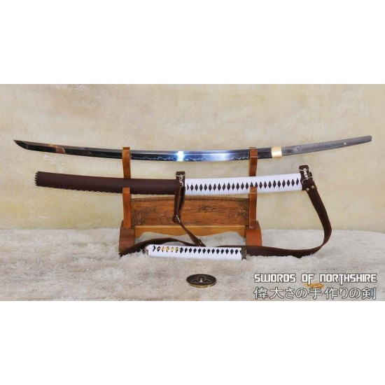 The Walking Dead Hand Forged & Clay Tempered 1095 High Carbon Steel Michonne Katana