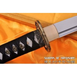 Hand Forged 1060 High Carbon Steel Blade Knife Full Tang Samurai Tanto Sword