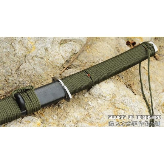 Hand Forged 1095 High Carbon Steel Tactical Outdoor Survival Wakizashi