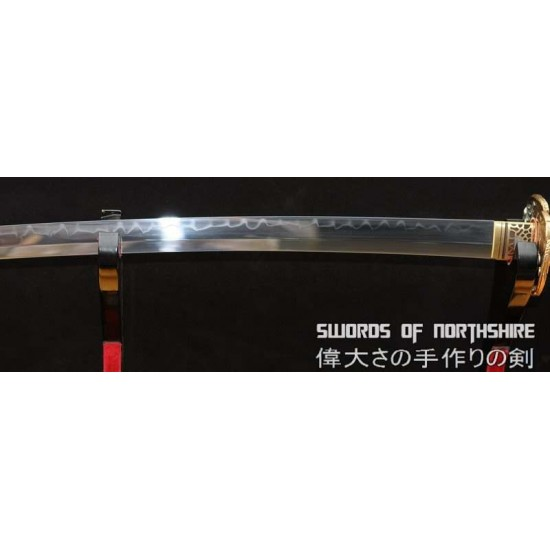 Hand Forged 1095 High Carbon Steel Clay Tempered Eagle Katana