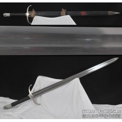 Hand Forged 1095 High Carbon Steel Fully Functional European Broad-Sword with Scabbard