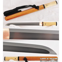 Clay Tempered 1095 High Carbon Steel Japanese Samurai Tanto Sword w/ Hazuya & Jizuya Polish