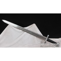 Hand Forged Medieval European Viking Sword Double Edged 1095 Folded Steel Blade