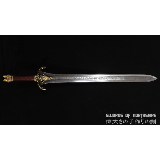 Hand Forged Folded High Carbon Steel Fully Functional Conan the Destroyer Father's Sword