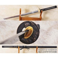 Hand Forged Tang Dao 1060 High Carbon Steel Straight Blade Ninja Samurai Sword