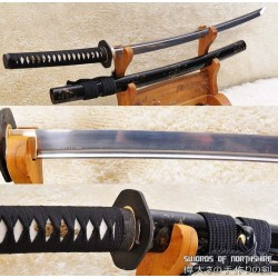 Hand Forged Folded Steel Blade Iron Tsuba Samurai Sword Katana