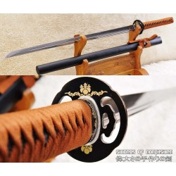 Hand Forged Ninjato 1095 High Carbon Steel Unokubi Zukuri Straight Blade Ninja Sword