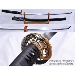 1095 High Carbon Steel Clay Tempered Kiriha Zukuri Samurai Katana Sword