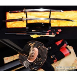1095 High Carbon Steel Clay Tempered Samurai Sword Daisho Set Katana & Wakizashi
