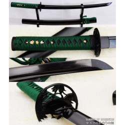 Hand Forged Black Folded Steel Custom Samurai Wakizashi Sword