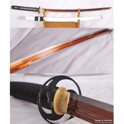 Kogarasu Maru 1095 High Carbon Red Steel Double-Edged Samurai Katana Little Crow Sword