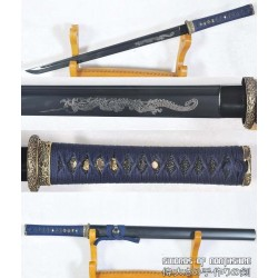 Hand Forged Ninjato Black Folded Steel Blade Samurai Ninja Sword
