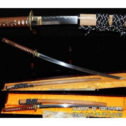 1095 High Carbon Steel Clay Tempered Samurai Sword Dragon Katana