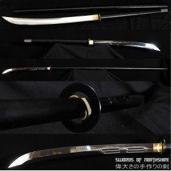 "1095 High Carbon Steel Naginata Sword Spear Samurai Hardwood Handle 78"" Polearm"