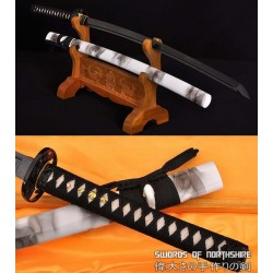 Hand Forged 1060 High Carbon Steel Black Blade Samurai Katana Sword