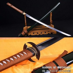 Hand Forged 1060 High Carbon Steel Blade Full Tang Samurai Katana Sword