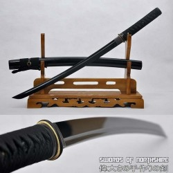 Hand Forged 1060 High Carbon Black Steel Tactical Custom Wakizashi