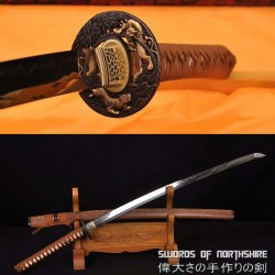 Hand Forged 1095 High Carbon Steel Clay Tempered Tiger Samurai Katana Sword