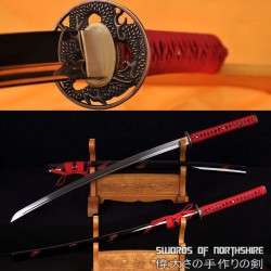 Hand Forged 1060 High Carbon Steel Blade Iaito Samurai Blood Dragon Katana Sword
