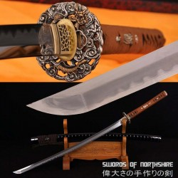 Gyaku-Kobuse Clay Tempered 1095 High Carbon Steel + Folded Steel Samurai Katana Sword