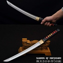 Hand Forged 1060 High Carbon Steel Blade Knife Full Tang Samurai Tanto Short Sword