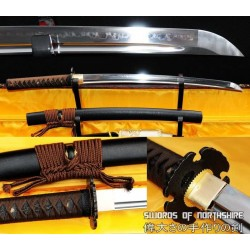 1095 High Carbon Steel Clay Tempered Samurai Wakizashi Sword