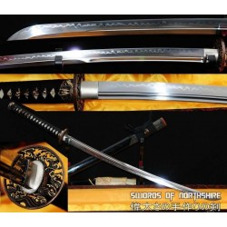 1095 High Carbon Steel Clay Tempered Unokubi Zukuri Katana