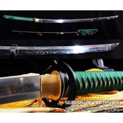 1095 High Carbon Steel Clay Tempered Samurai Sword Ketsueki Tsume Katana