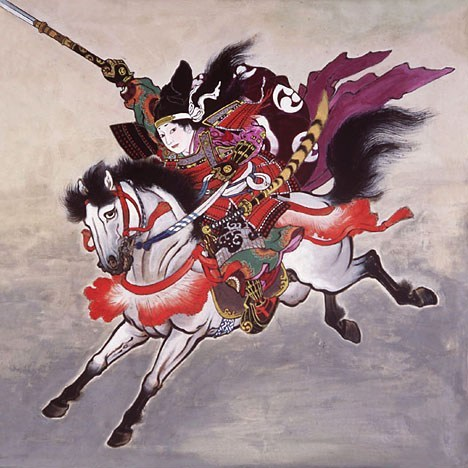 samurai tomoe on horseback