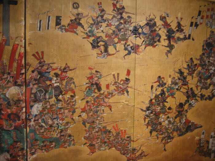 painting of the siege of osaka